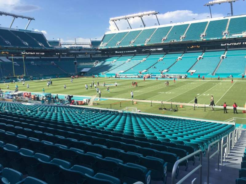 Seating view for Hard Rock Stadium Section 142 Row 28 Seat 21
