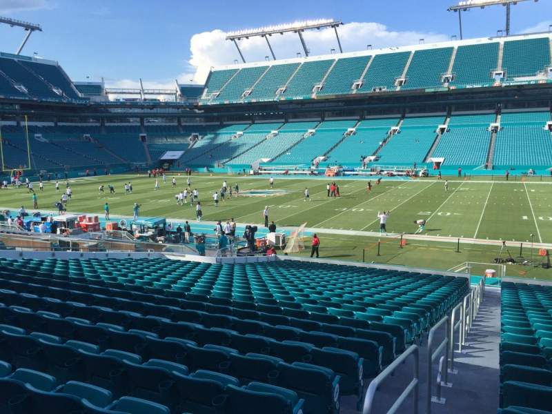 Seating view for Hard Rock Stadium Section 143 Row 28 Seat 24