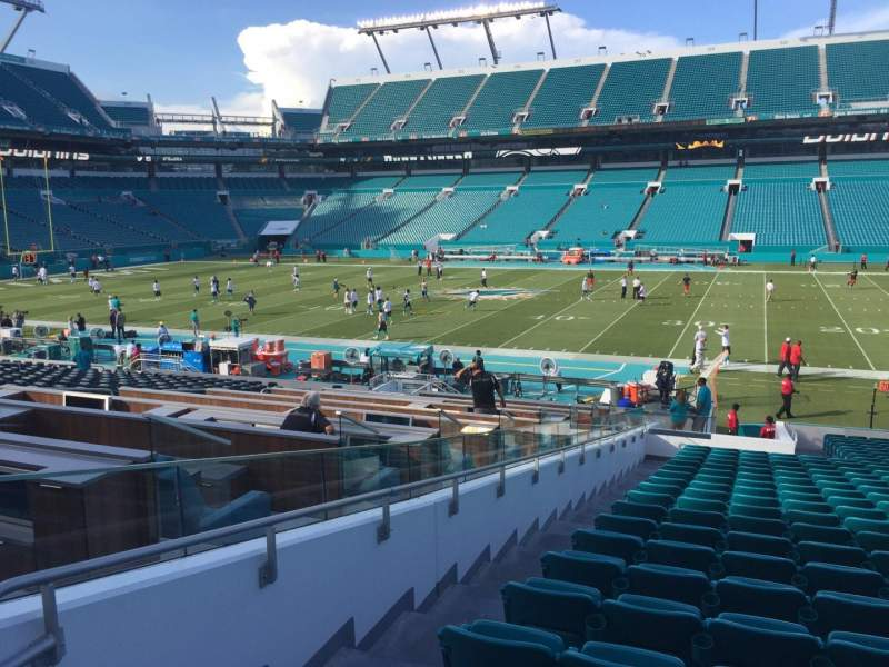 Seating view for Hard Rock Stadium Section 144 Row 28 Seat 23