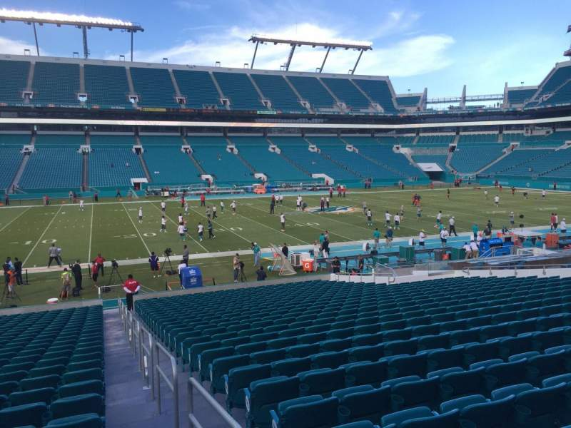 Seating view for Hard Rock Stadium Section 149 Row 28 Seat 1