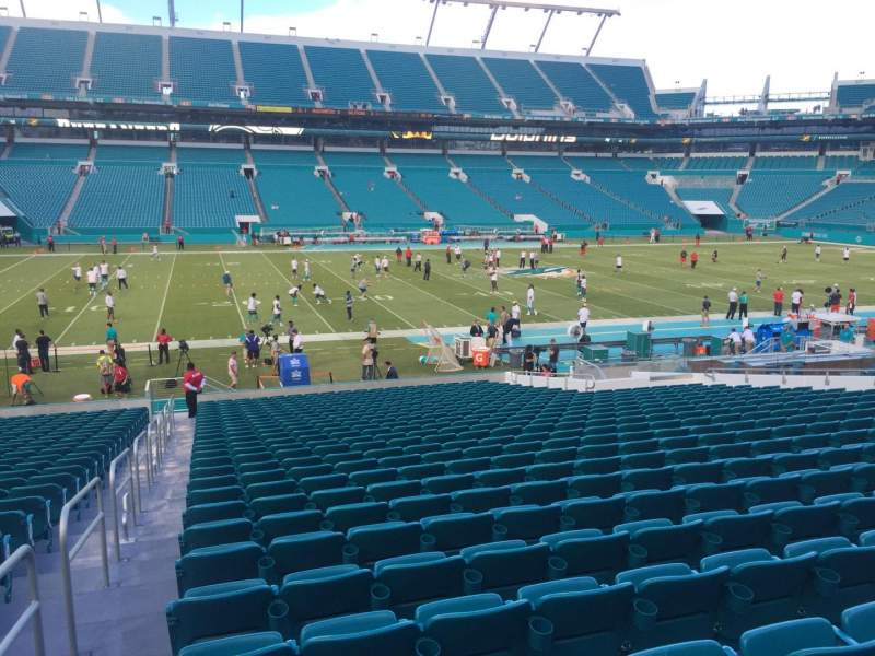Seating view for Hard Rock Stadium Section 148 Row 28 Seat 24