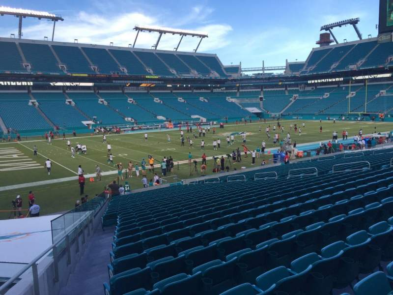 Seating view for Hard Rock Stadium Section 150 Row 28 Seat 27