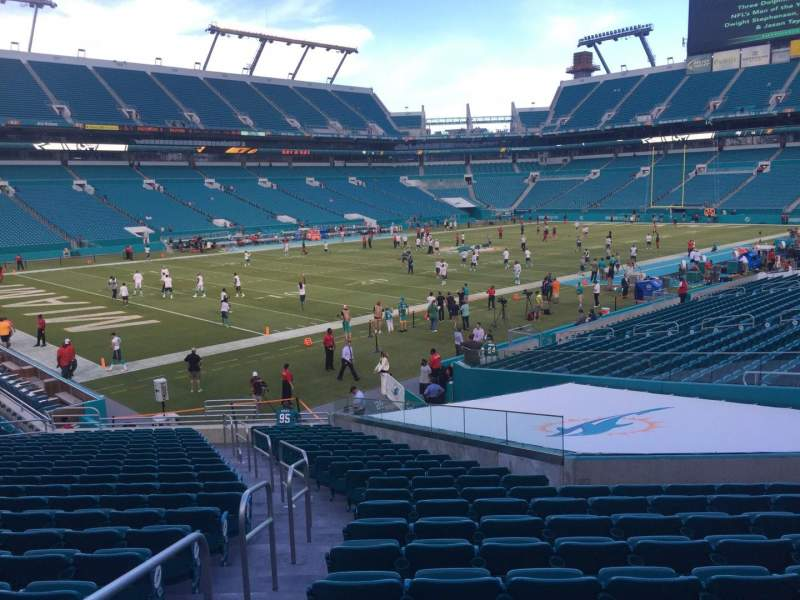 Seating view for Hard Rock Stadium Section 153 Row 22 Seat 22