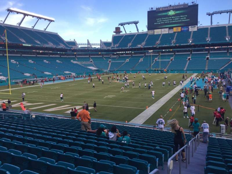Seating view for Hard Rock Stadium Section 101 Row 21 Seat 26