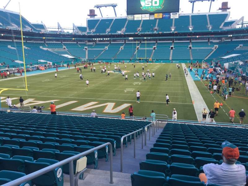 Seating view for Hard Rock Stadium Section 102 Row 22 Seat 24