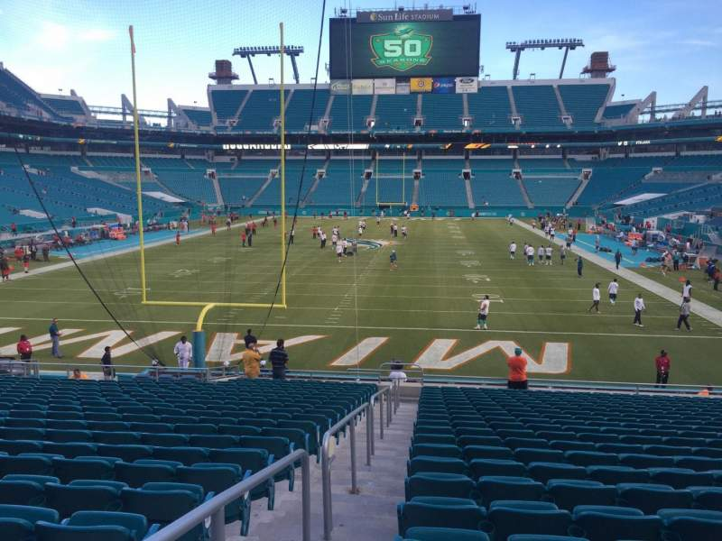 Seating view for Hard Rock Stadium Section 103 Row 22 Seat 24
