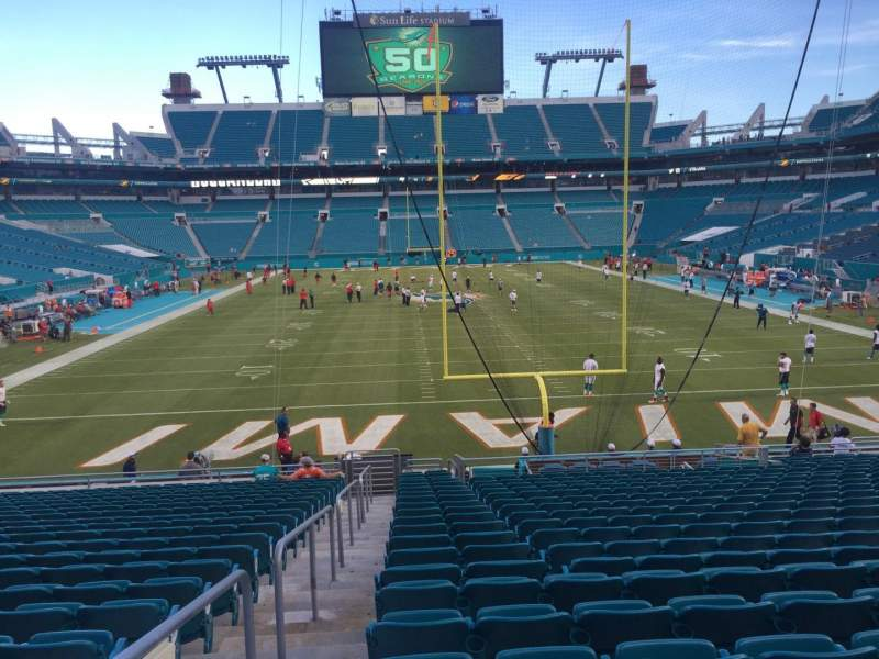 Seating view for Hard Rock Stadium Section 104 Row 22 Seat 24