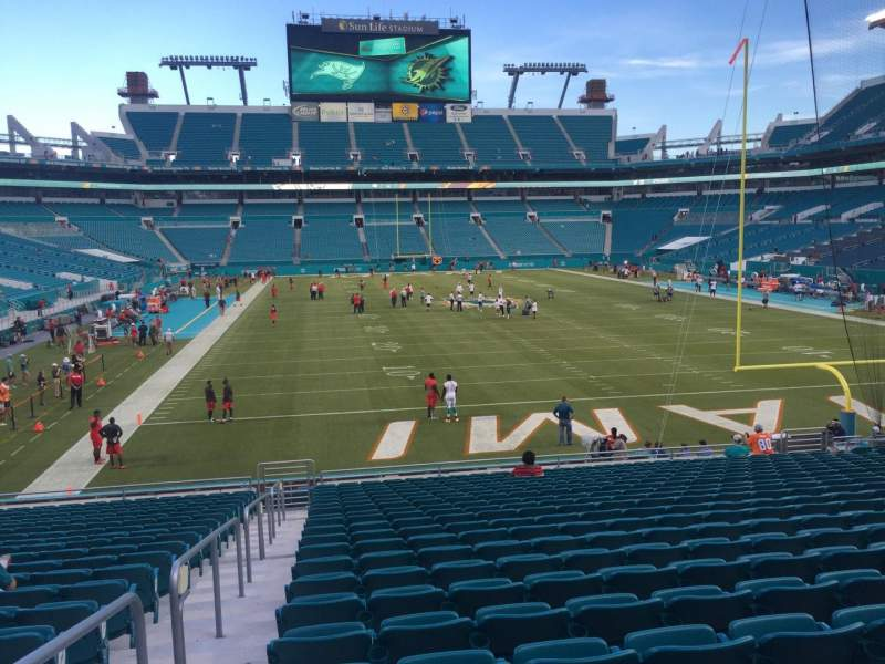 Seating view for Hard Rock Stadium Section 105 Row 22 Seat 24