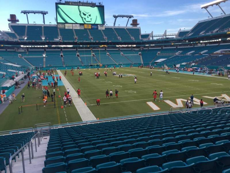 Seating view for Hard Rock Stadium Section 106 Row 22 Seat 24