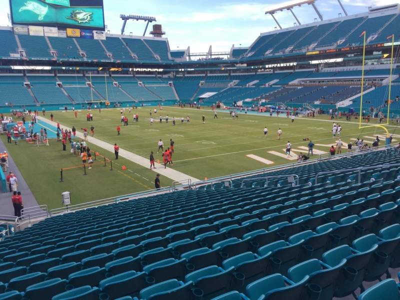 Seating view for Hard Rock Stadium Section 107 Row 22 Seat 18