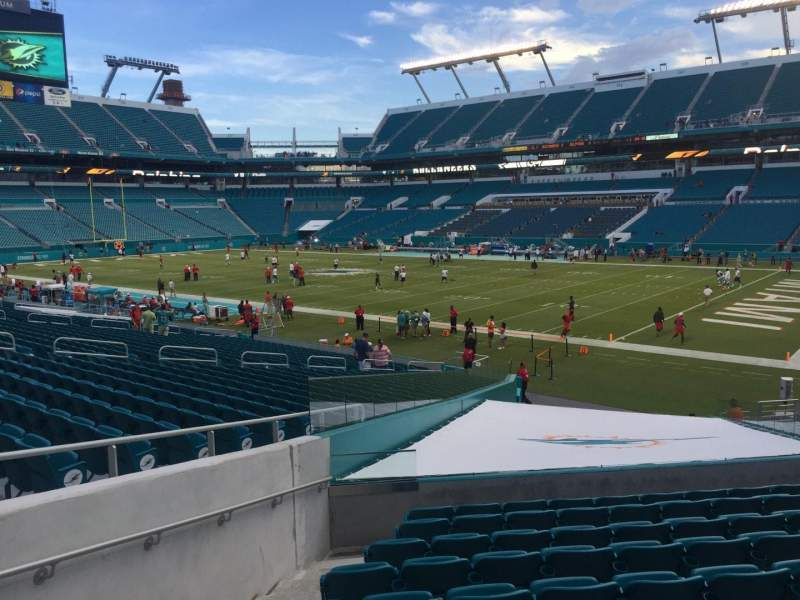 Seating view for Hard Rock Stadium Section 111 Row 22 Seat 24