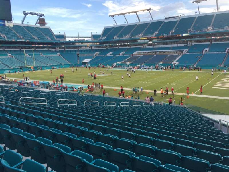 Seating view for Hard Rock Stadium Section 114 Row 35 Seat 7