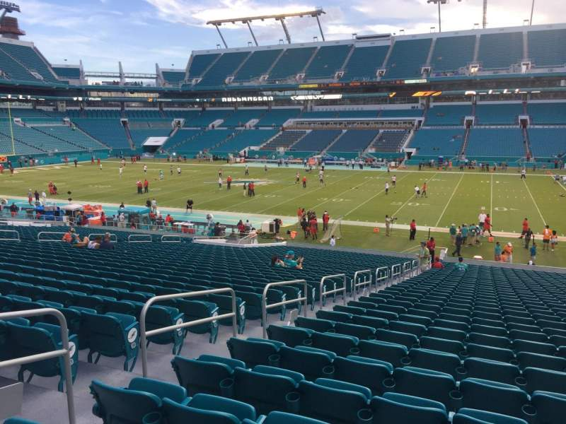 Seating view for Hard Rock Stadium Section 115 Row 35 Seat 21