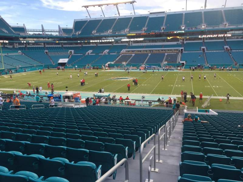 Seating view for Hard Rock Stadium Section 116 Row 35 Seat 24