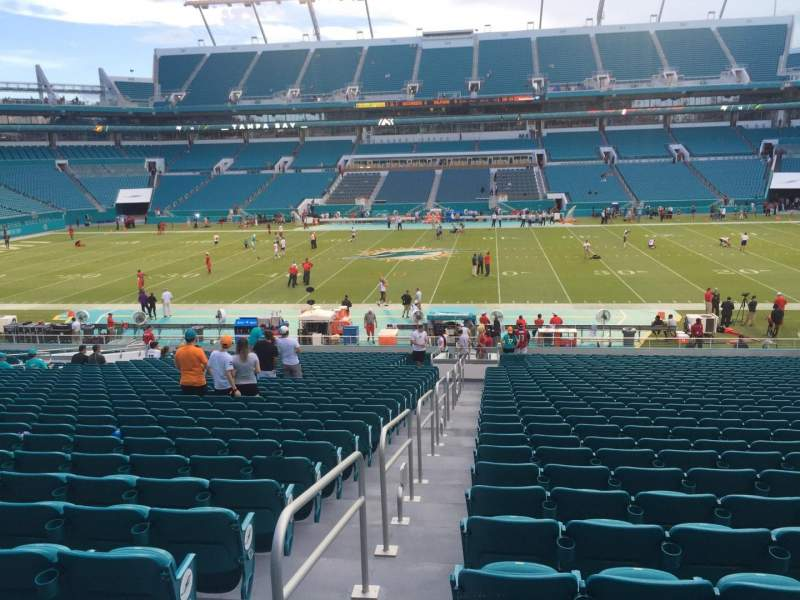 Seating view for Hard Rock Stadium Section 117 Row 34 Seat 22