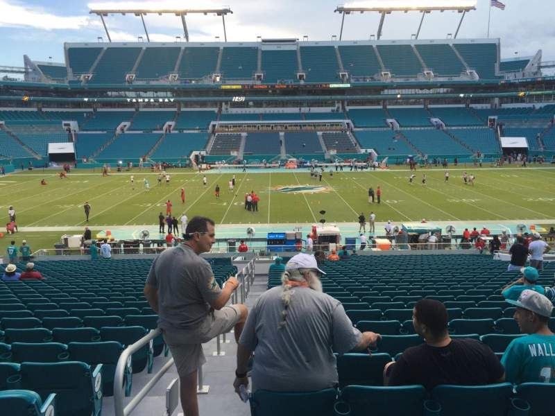 Seating view for Hard Rock Stadium Section 118 Row 34 Seat 22