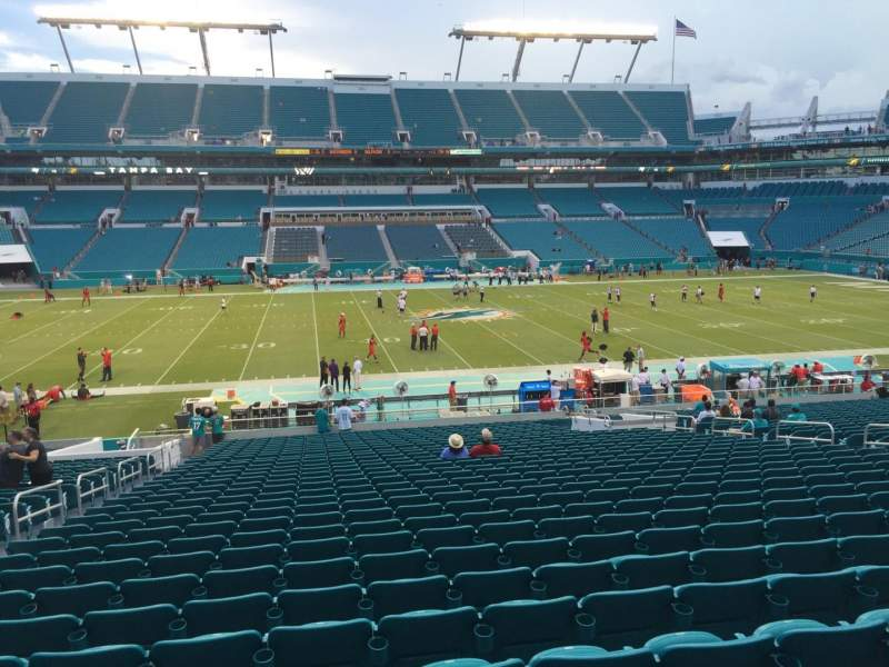 Seating view for Hard Rock Stadium Section 119 Row 34 Seat 17