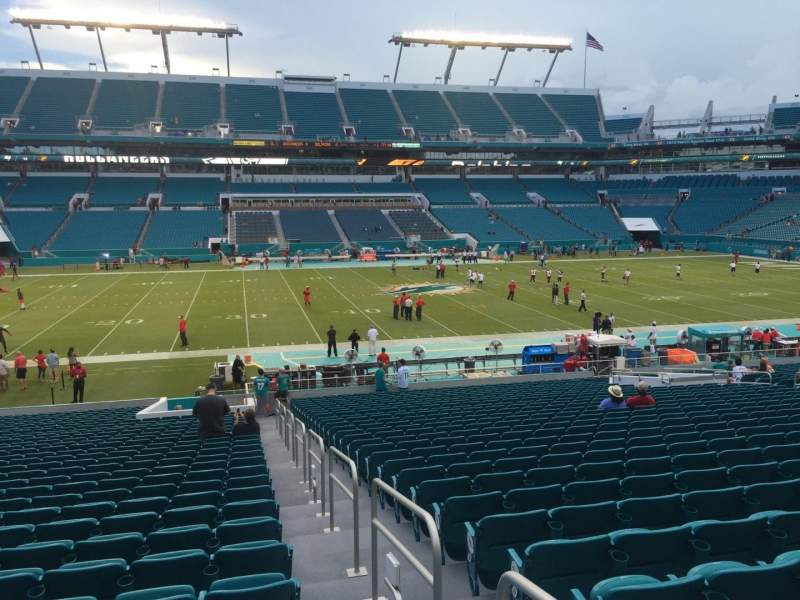 Seating view for Hard Rock Stadium Section 120 Row 32 Seat 1