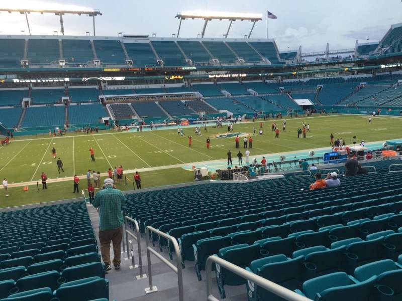 Seating view for Hard Rock Stadium Section 121 Row 32 Seat 1