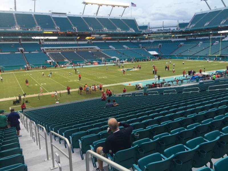 Seating view for Hard Rock Stadium Section 122 Row 32 Seat 1