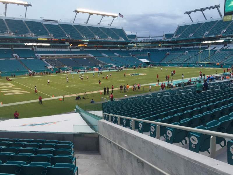Seating view for Hard Rock Stadium Section 125 Row 22 Seat 1