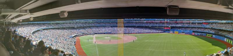 Seating view for Rogers Centre Section 209L Row 13 Seat 105