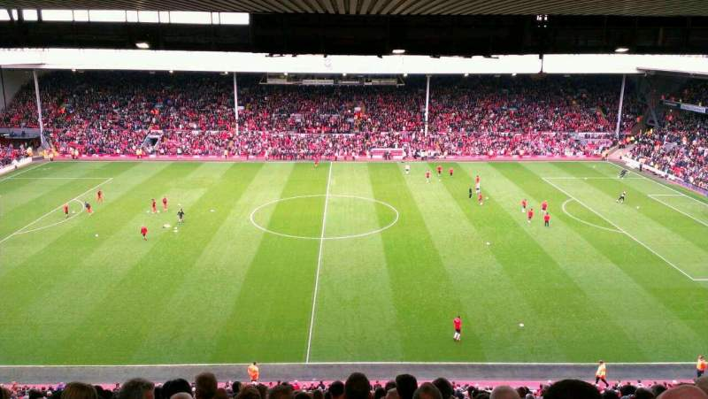 Seating view for Anfield Section Centenary Row 55 Seat 17
