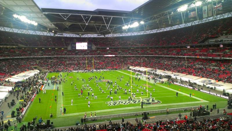 Seating view for Wembley Stadium Section 217 Row 10 Seat 38