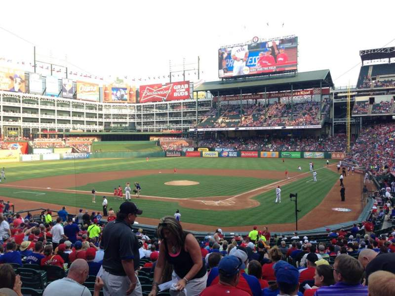 Seating view for Globe Life Park in Arlington Section 24 Row 24 Seat 8