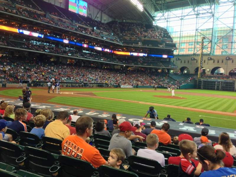 Seating view for Minute Maid Park Section 125 Row 14 Seat 16