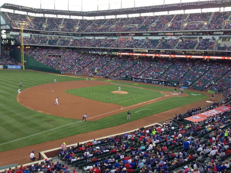 Seating view for Globe Life Park in Arlington Section Yogi Berra Suite 106B Row 1 Seat 10