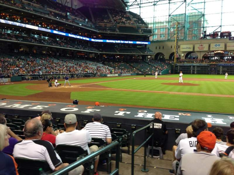Seating view for Minute Maid Park Section 125 Row 12 Seat 1