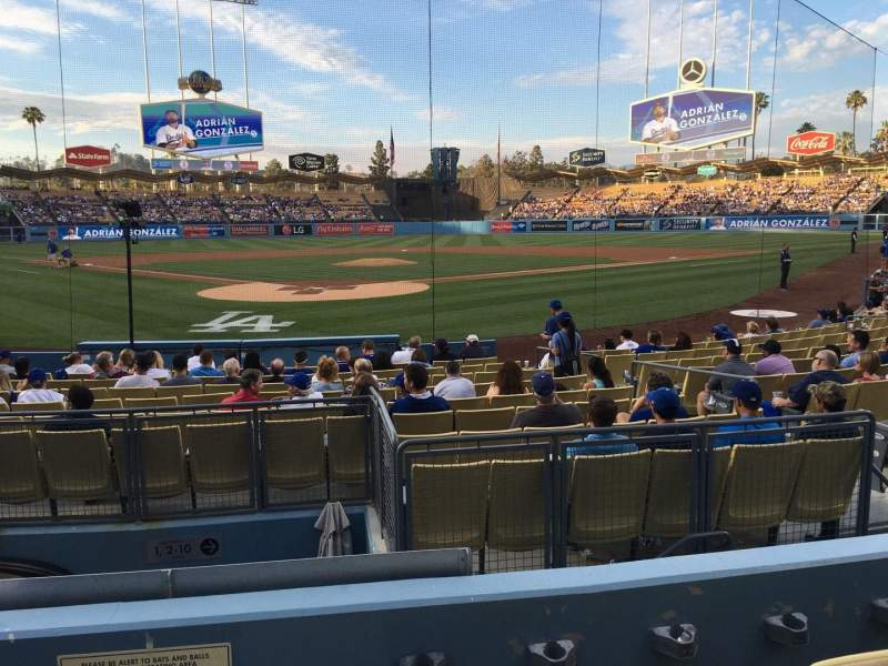 Seating view for Dodger Stadium Section 4FD Row D Seat 1
