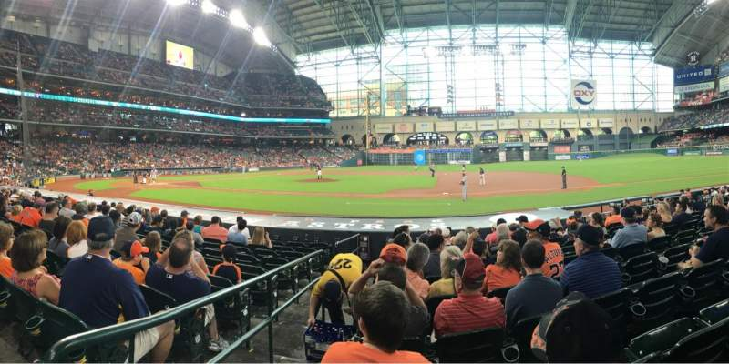 Seating view for Minute Maid Park Section 126 Row 14 Seat 1