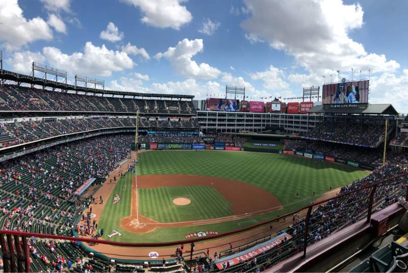 Seating view for Globe Life Park in Arlington Section 330 Row 3 Seat 11