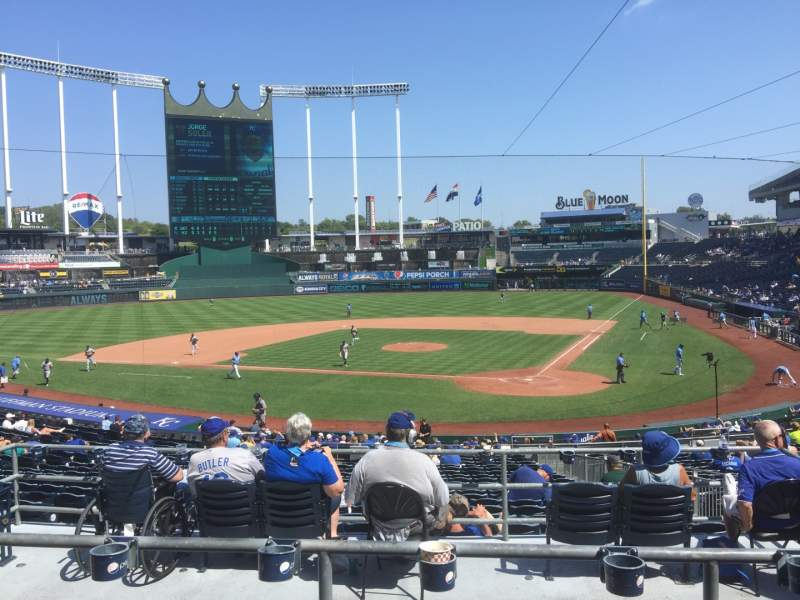 Seating view for Kauffman Stadium Section 225 Row CC Seat 14