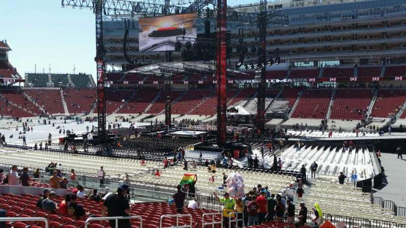 Seating view for Levi's Stadium Section 111 Row 24 Seat 13