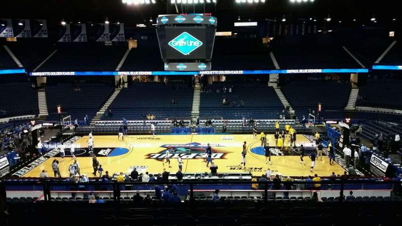 Seating view for Allstate Arena Section 210 Row G Seat 28