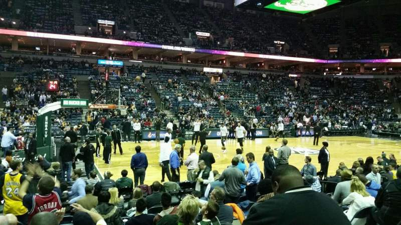 Seating view for BMO Harris Bradley Center Section 216 Row H Seat 7