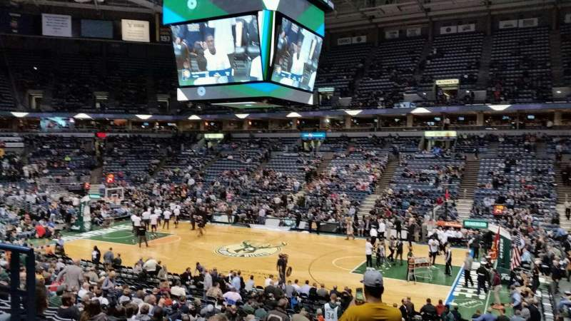 Seating view for BMO Harris Bradley Center Section 212 Row W Seat 12