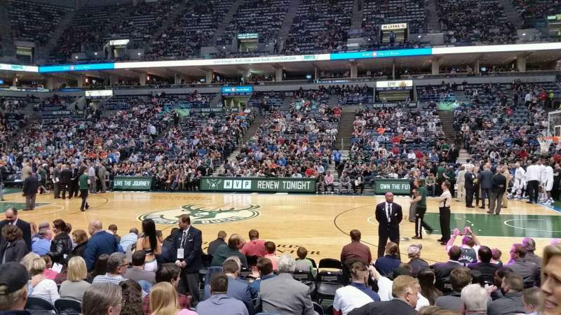 Seating view for BMO Harris Bradley Center Section 213 Row F Seat 7