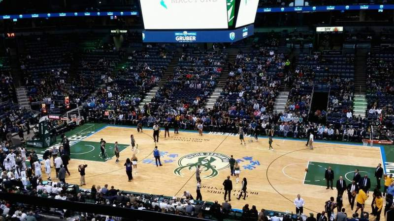 Seating view for BMO Harris Bradley Center Section 443 Row 2 Seat B