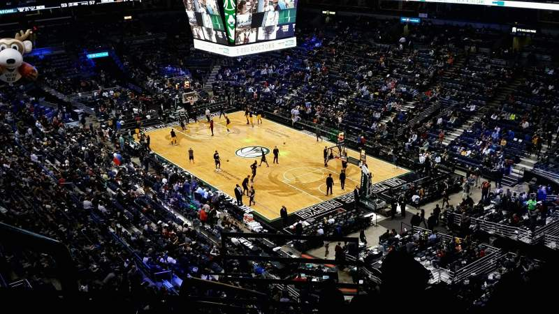 Seating view for BMO Harris Bradley Center Section 438 Row J Seat 1