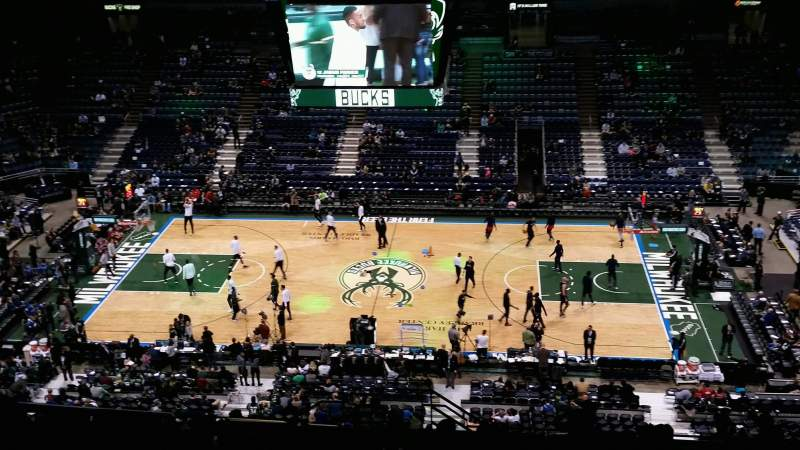 Seating view for BMO Harris Bradley Center Section 443 Row T Seat 12