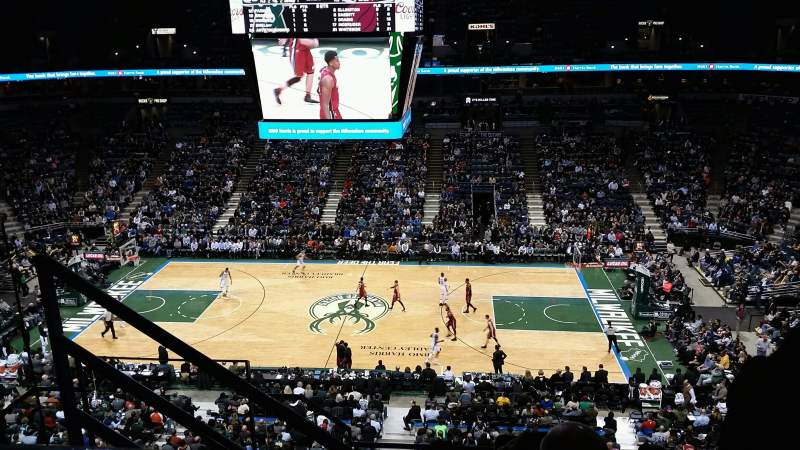 Seating view for BMO Harris Bradley Center Section 443 Row F Seat 11