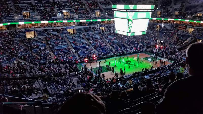 Seating view for BMO Harris Bradley Center Section 404 Row P Seat 13