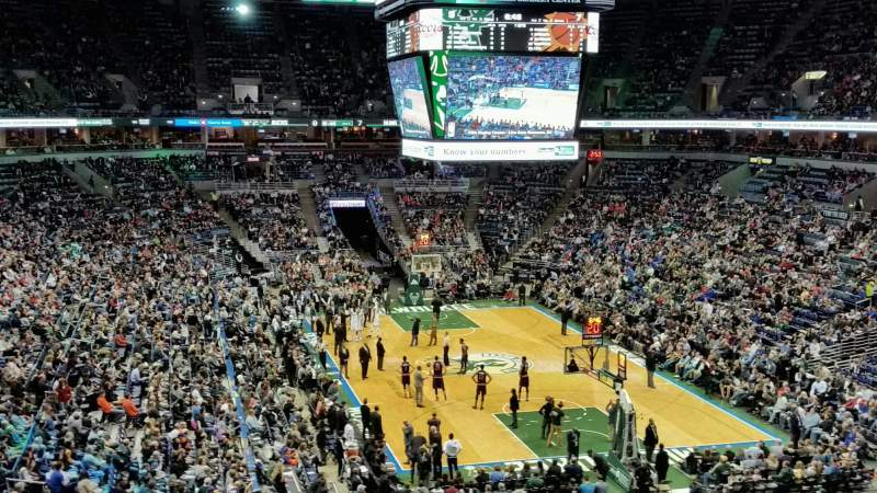Seating view for BMO Harris Bradley Center Section 425 Row A Seat 5