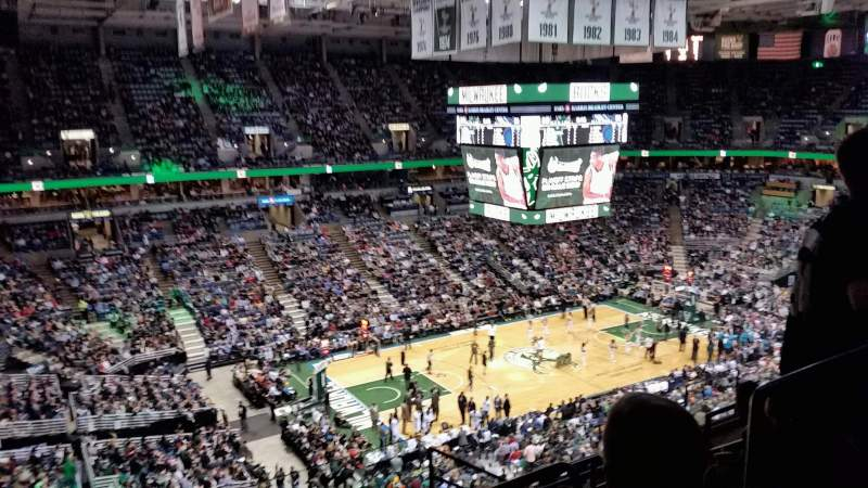 Seating view for BMO Harris Bradley Center Section 404 Row K Seat 4