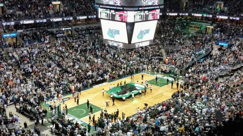 Seating view for BMO Harris Bradley Center Section 404 Row S Seat 12