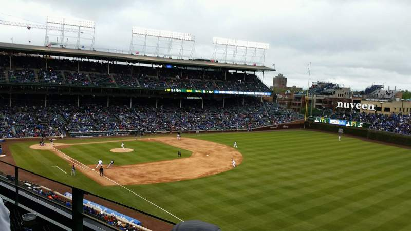 Seating view for Wrigley Field Section 438 Row 2 Seat 105